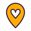 direction, heart, home, iconfinder, location, travelculture icon