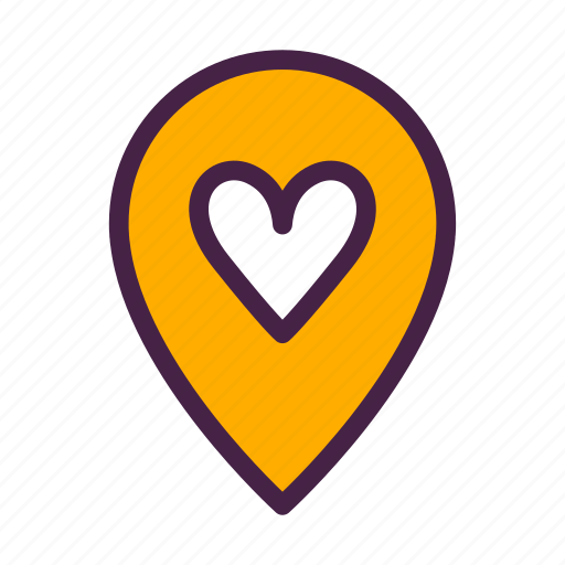 direction, heart, home, location, travelculture icon