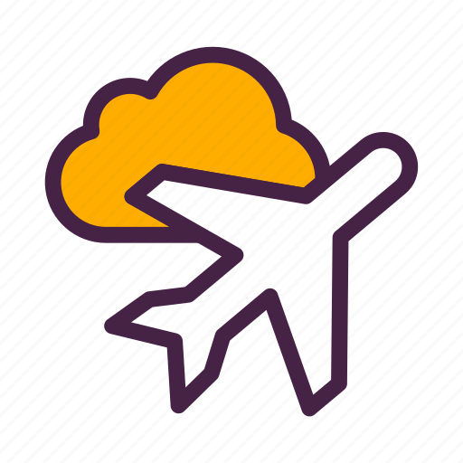 airplane, cloud, flight, flying, plane, travelculture icon