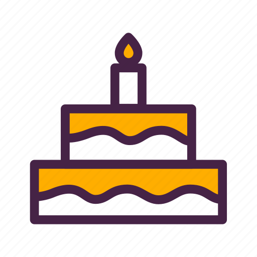 birthday, birthday cake, cake, candle, tiered cake, travelculture icon