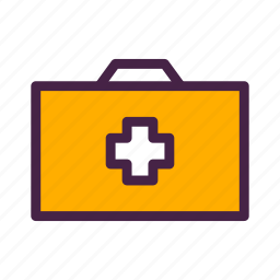 briefcase, first aid, first aid kit, kit, travelculture icon