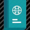 document, id, identification, identity, pass, passport, ticket, tourism, travel, visa, vocation icon