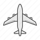 aeroplane, airplane, airport, boeing, flight, plane icon
