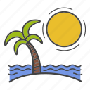 beach, islands, rest, travel, trip, vacation, voyage icon