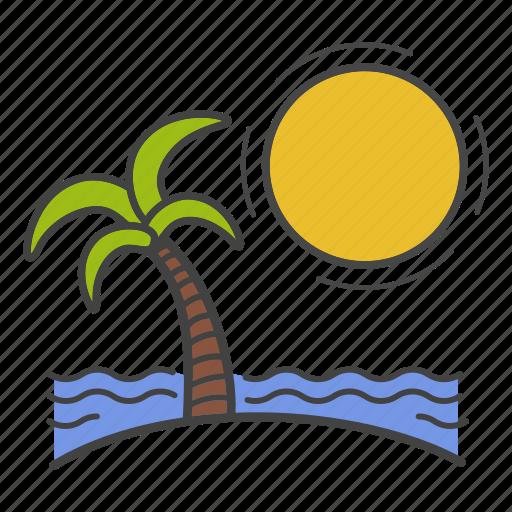 beach, islands, rest, travel, trip, vacation, voyage icon