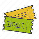 coupon, entertainment, pass, permission, seat, tickets icon
