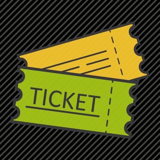 coupon, entertainment, pass, permission, seat, tickets icon
