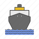 boat, cruise, ferry boat, freighter, ship, tanker, travel icon