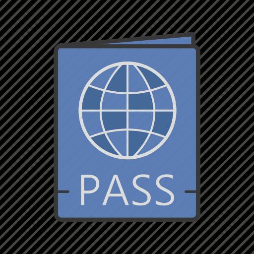 documents, id card, international passport, legal document, pass, passport, visa icon