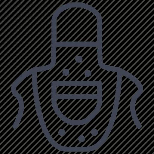 apron, cooking, essentials, kitchen, travel icon