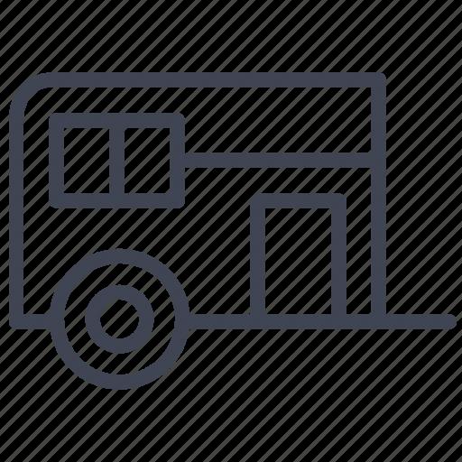 caravan, convoy, essentials, transport, transportation, travel icon