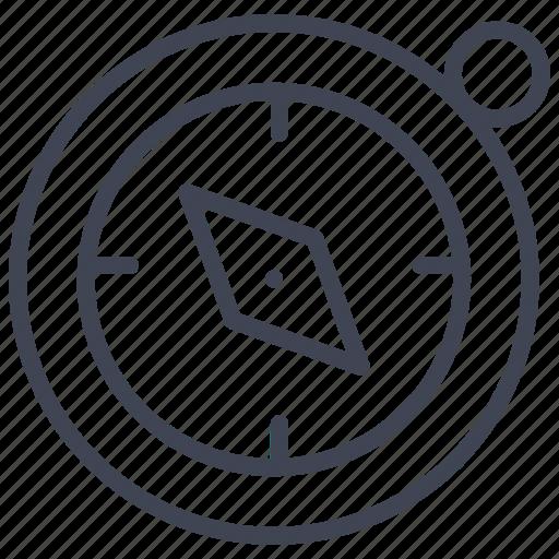 compass, essentials, gps, navigation, travel icon