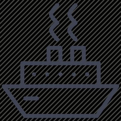 cruise, essentials, ship, transport, transportation, travel, vessel icon