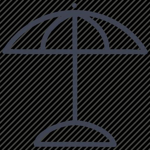 essentials, parasol, sunshade, travel, umbrella, weather icon