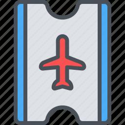 airplane, happy, journey, ticket, transportation, travel, vacation icon