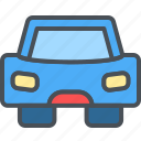 car, happy, journey, transportation, travel, vacation icon