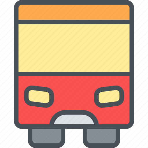 bus, happy, journey, transportation, travel, vacation icon