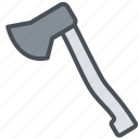 axe, happy, journey, transportation, travel, vacation icon