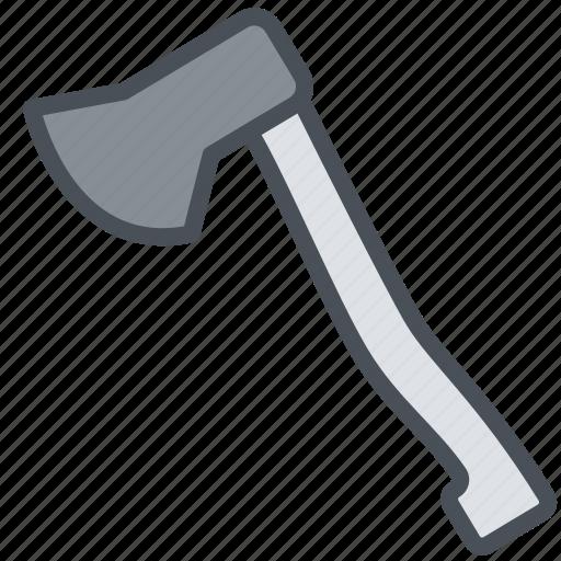 axe, happy, journey, transportation, travel, vacation icon