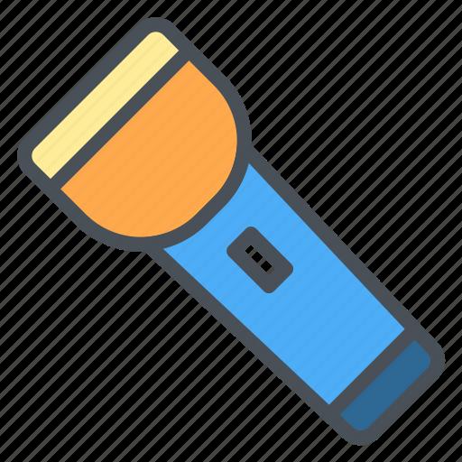 flashlight, happy, journey, transportation, travel, vacation icon