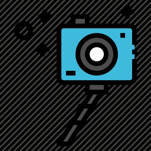 camera, digital, photograper, selfie, tripod icon