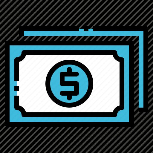 bank, cash, dollar, money, note icon