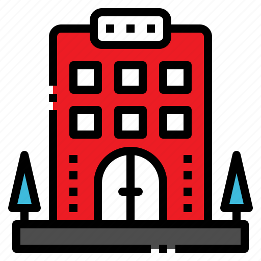 building, hotel, sleep, travel, vacation icon