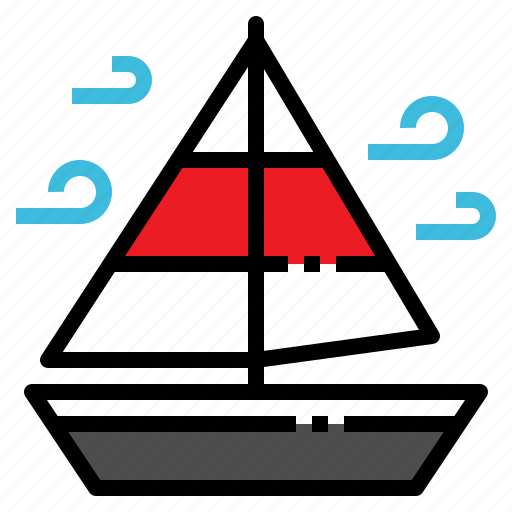 activity, boat, sailing, ship, travel icon