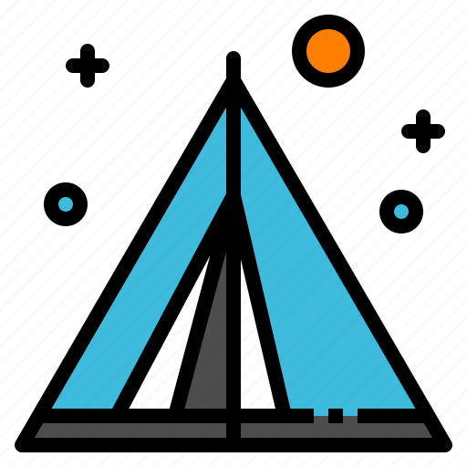 adventure, camping, outdoor, tent, vacation icon