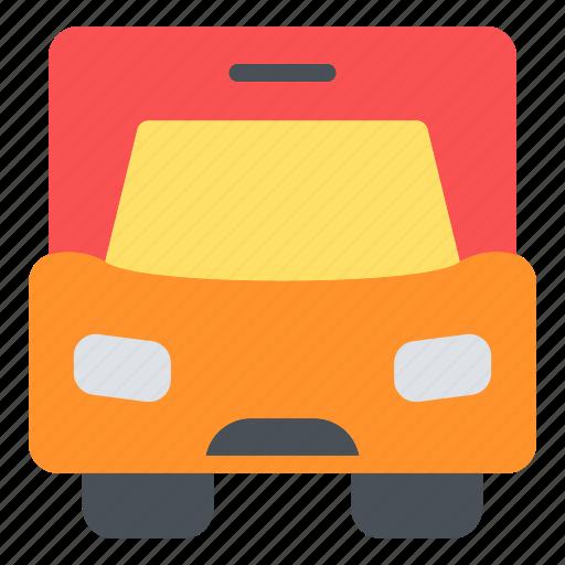 happy, journey, transportation, travel, vacation, van icon