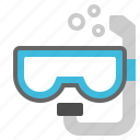 diving, mask, sea, snorkel, swimming icon