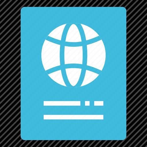 document, id, passport, travel, visa icon