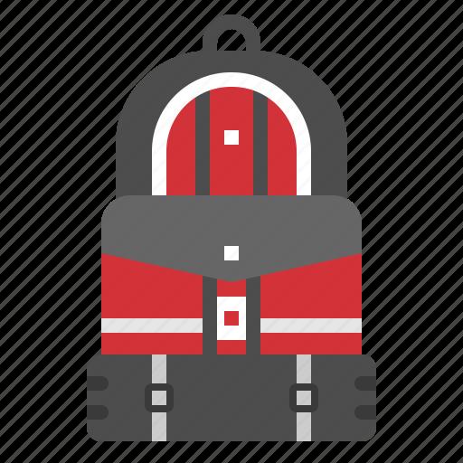 backpack, bag, journey, luggage, tourist icon