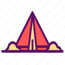 adventure, camp, camping, tent, traveling, trip, vacation icon