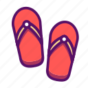 footwear, outline, sandals, shoes, slippers, sock, traveling icon