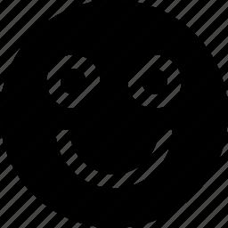 big, face, happy, smile icon