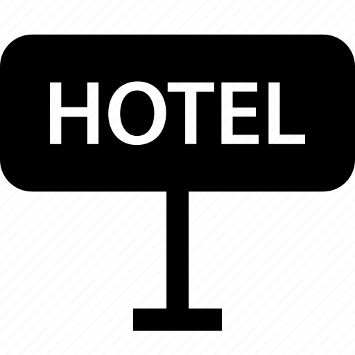 checkin, hotel, sign icon
