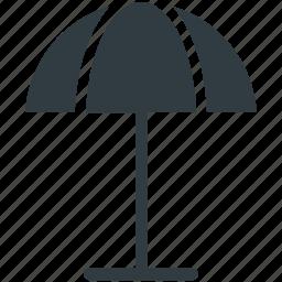 beach umbrella, garden umbrella, protection, summer, sunshade icon