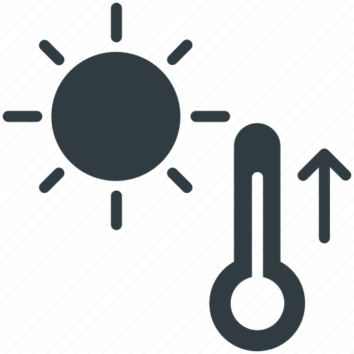 cold, hot, sunny weather, temperature, thermometer icon