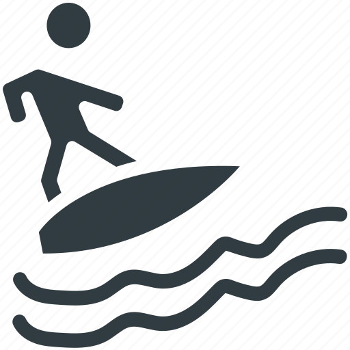 beach, male, surfboarding, surfer, surfing icon
