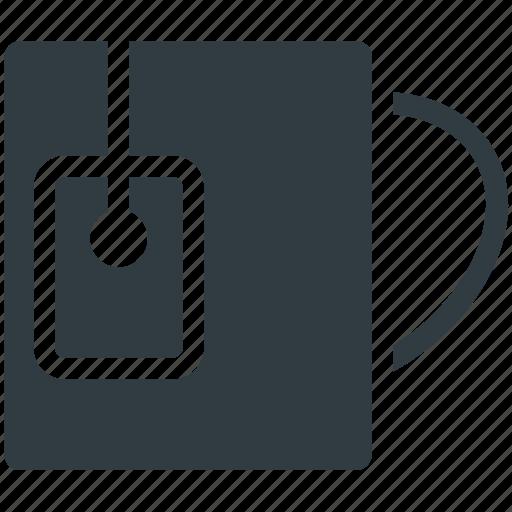 beverage, cup, drink, instant tea, mug, tea, tea bag, tea mug icon