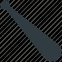 baseball, baseball bat, game, sports accessories, sports equipment icon