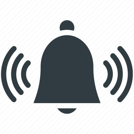 alarm, alert, bell, mobile ui, ringing bell, web ui icon