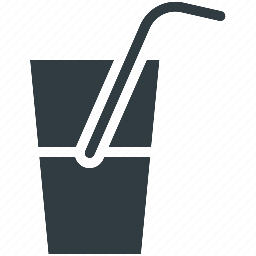 drink, juice, soda, straw, water icon