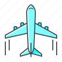 aircraft, airliner, airplane, flight, flight airliner, travel icon