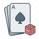 cards, casino, gambling, playing cards, poker icon