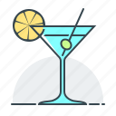 alcohol, bar, cocktail, drink, glass, martini icon