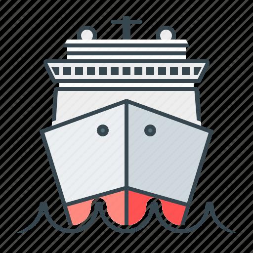boat, cruise, sea, ship, travel icon