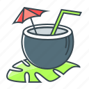 cocktail, coco, coconut, drink, exotica, juice icon