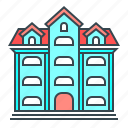 building, home, hostel, hotel, house, motel icon